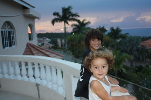 Evening sunset at home Jamaica