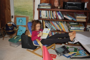 Zahra In Her Reading Chair