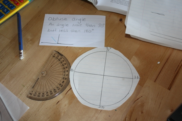Without a compass he used a cup to draw his circle