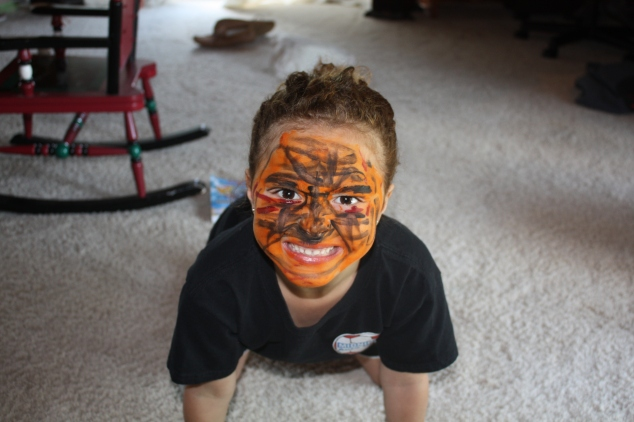 that s me with my face painted