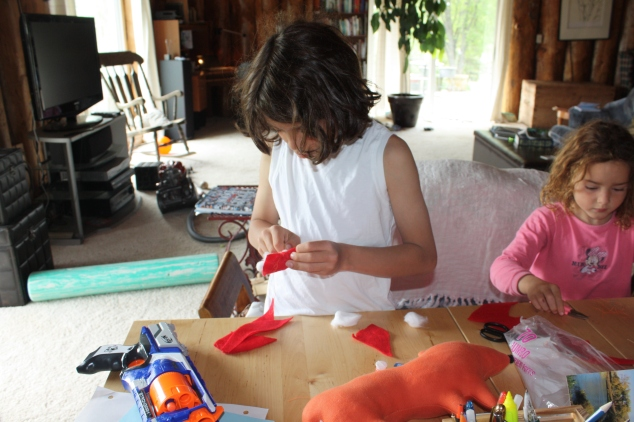 What I love and wanted in homeschool. My kids engaged and focus on creative activity. No time limits and bells ringing.
