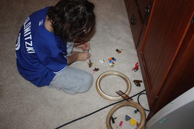 My son's Lego battles